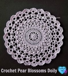 Create a lovely lace doily with this intermediate crochet pattern to add a fancy touch to your dining room table. The Pretty Crochet Doily Pattern from Bernat Yarns uses a small 2 crochet hook (1.75 mm) and light cotton yarn to form the delicate desi