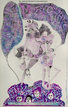 Moby Grape Poster Fillmore Auditorium (San Francisco, CA) May 2, 1968