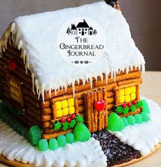 gingerbread house for Christmas; lots of tutorials on this blog, www.gingerbreadjournal.com
