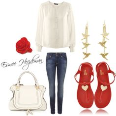 Esmee Heijdeman, created by esmeeheijdeman-17 on Polyvore love the red