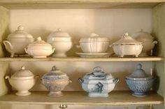 collezione di zuppiere  pottery collection