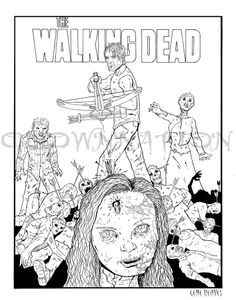 The walking dead season 3 episode 13 the governor david for The walking dead coloring pages