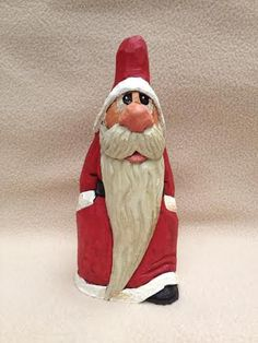 Hand Carved Nosey Christmas Santa Wood Carving by RWKWoodcarving, $65.00