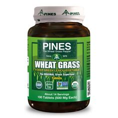 Pines International Organic Wheat Grass - 500 Mg - 100 Tablets