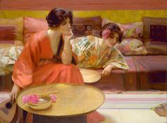 Idle Hours (1895), by H. Siddons Mowbray, Smithsonian American Art Museum