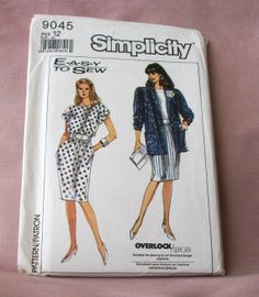 1989 Uncut  Easy to Sew Simplicity Pattern by lovelylovepatterns, $4.00
