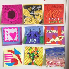 post it note art exhibit