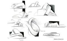 Sketches by Mathias Hintermann, via Behance