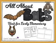 This resource includes basic information about bats to help young learners have fun while learning. Two easy books, one passage, cut and paste, color by code, and much more! #BatsThematicUnit #Halloween #OctoberTeachingIdeas Information About Bats, Easel Activities, Thematic Units, Student Data, Elementary Science, Cut And Paste, Reading Resources, Teacher Newsletter, Comprehension