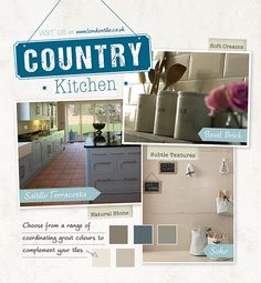 Create a gorgeous country style kitchen in your home with our great range of tiles. #CountryKitchen  Visit www.londontile.co.uk to be inspired and see our full range of kitchen tiles.