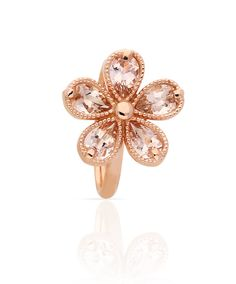 Delicate rose gold and morganite daisy ring - LOVE! Jenna Clifford Designs | Specials › Love Me Daisy Collection