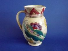 Shorter and Son 'Medina' Period Ware Art Deco Pitcher by Mabel Leigh c1935
