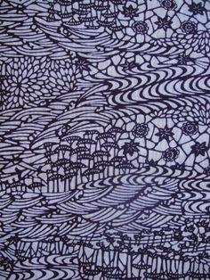 Cotton japanese kimono yukata fabric vintage by GreatTextiles, $15.90