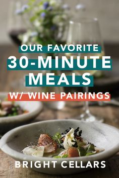 In a time crunch? DON'T stress! Here are easy 30 minute meals + the PERFECT wine to match. Just being it is a weeknight doesn't mean you can't enjoy a glass of wine with your meal. Spiced Pumpkin Soup, Pumpkin Sauce, Bright Cellars, Ginger Beef, Beer Pairing, Lentil Stew, Wine Guide, 30 Minute Meals, Baked Salmon