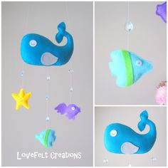 READY TO SHIP  Baby mobile  Under the Sea Mobile  by LoveFeltXoXo