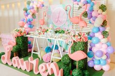 Tropical Flowers And Flamingos Birthday decorations, Tropical Flowers And Flamingos Birthday ideas, Tropical Flowers And Flamingos Birthday theme, invites