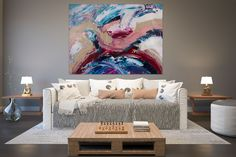 Items similar to Large Painting on Canvas,Extra Large Painting on Canvas,painting wall art,large interior decor,large art on canvas on Etsy Oversized Canvas Art, Large Canvas Art, Large Painting, Texture Painting, Large Wall Art, Large Art, Original Artwork, Original Paintings, Abstract Paintings