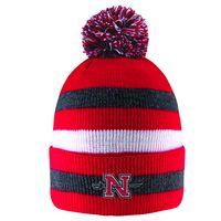 1e5ee7e029b LogoFit Primetime Striped Cuff Hat With Pom. Nicholls State University