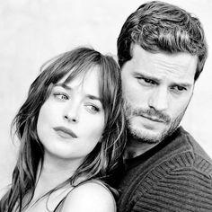 "Jamie Dornan and Dakota Johnson ""New FSOG Promo Outtake "" fifty shades of grey"
