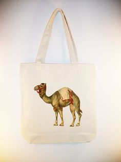Vintage Circus Camel on 15x15 Canvas tote by Whimsybags, $12.00