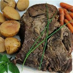 Marie's Easy Slow Cooker Pot Roast - featured on Food2Fork.  #food2fork #beef #roast #slowcooker
