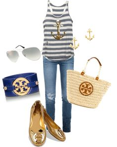 """Mommy's day out Tory Burch style """"casual semi glam"""" by dais76 on Polyvore"""