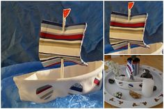 Boot aus Stoffresten / Boat made with scraps of fabric / Upcycling