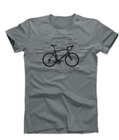 @Janine Biondo/Bicycle Parts T Shirts For Men  Cycling T Shirts by OhSudzGifts, $18.00
