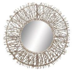 Uma Thin Wire Round Mirror