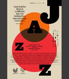 Like this Type approach..  Editorial Design for Guimarães jazz Edition 2012 by Atelier Martinoña