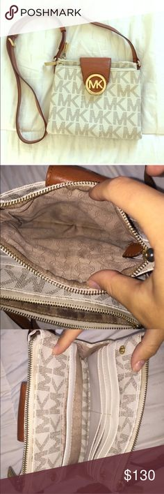 MK Fulton Purse This bag is not too small & not too big. It's really the perfect size. Like new!! Michael Kors Bags Crossbody Bags
