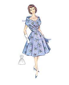 62acfec56a03 Más el tamaño (o cualquier tamaño) Vintage de los años 1950 las mujeres  patrón
