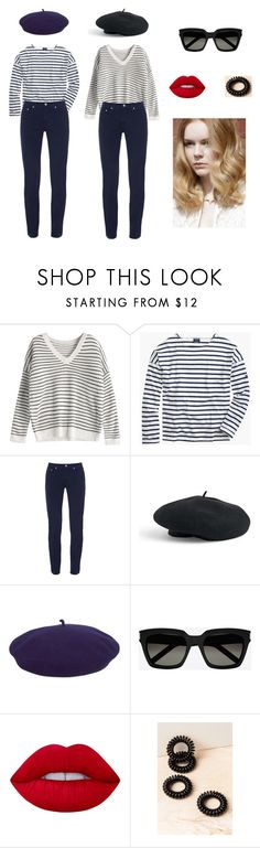 """""""Jolie Alien French Look"""" by tinquash on Polyvore featuring мода, Saint James, Fabrizio Gianni, Venus, kangol, Yves Saint Laurent, Lime Crime и Angelo"""