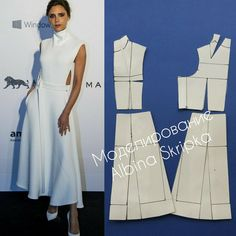 А это платье от Victoria Beckham подкупает своей выверенностью линий. Как же оно эффектно смотрится!!! ___ Часть нагрудной вытачки…
