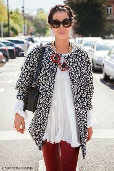 Photo by Street Style Seconds, Olja Vori, spring fashion street style look