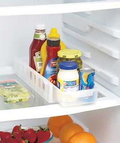 Organize your food with a Slide-Out Fridge Drawer. It fits almost anywhere in the fridge and makes it simple to reach items in the back.Crafted from tough