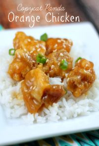 Copycat Panda Express Orange Chicken. So easy to make your own at home!