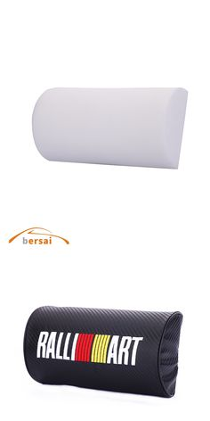 BERSAI 1 piece Carbon fiber style soft Neck Pillow JDM car styling for RALLIART forcitroen c4 audi a3 nissan KIA VW accessories