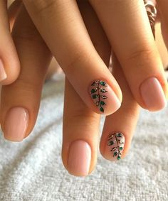 Pretty Leaf Branch Nail Art Designs 2018 for Girls