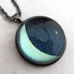 Magical Crescent Moon Necklace at shanalogic.com