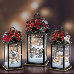 Christmas Favors, Christmas Lanterns, Noel Christmas, Christmas Centerpieces, Christmas Is Coming, Christmas Images, Vintage Christmas, Christmas Crafts, Christmas Decorations
