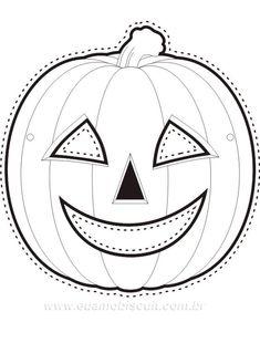20 Moldes de abóbora para Dia das Bruxas | Como fazer em casa Happy Halloween, Halloween Crafts For Kids, Halloween Pictures, Diy Halloween Decorations, Spooky Halloween, Halloween Pumpkins, Toddler Crafts, Preschool Crafts, Imprimibles Halloween