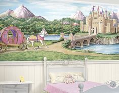 Princess Castle Bliss Mural - Wall Sticker Outlet
