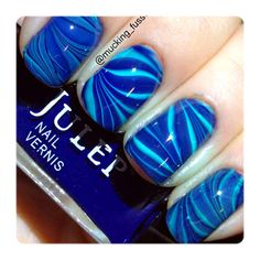 Blues for a Cause Water Marble by Corynn
