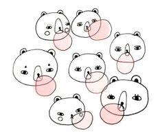 'Bubble Gum' bears by Andrea Kang