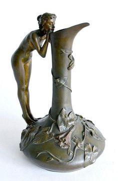 Art Nouveau vase by Jeanne Jozon (1868-1946)