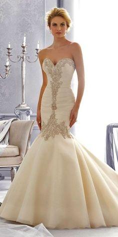 Mermaid Wedding Dresses Inspiration 66