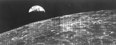 First Lunar Orbiter photo of earth from space... August 1966 Google Image Result for http://2.bp.blogspot.com/-yGiF2JWhmXg/TlPtJpUOJ6I/AAAAAAAANOY/gwPJa8FNglE/s1600/Lunar%252BOrbiter%252B1.jpg