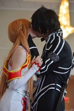Sword Art Online - Kirito and Asuna - This is the cosplay I want to do with a special person one day. I hope that special person knows what it is.