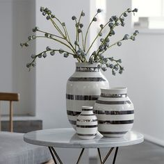 Kähler - Omaggio - Vas silver 30,5 cm